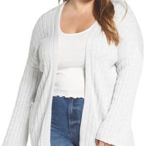 NEW BP Nordstrom 3X Ribbed Throw On Cardigan